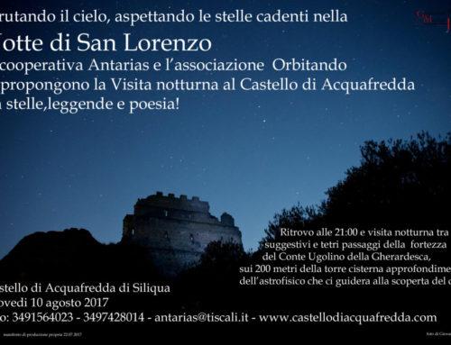 Notte di San Lorenzo al castello di Acquafredda 10 agosto 2017 #sold out#